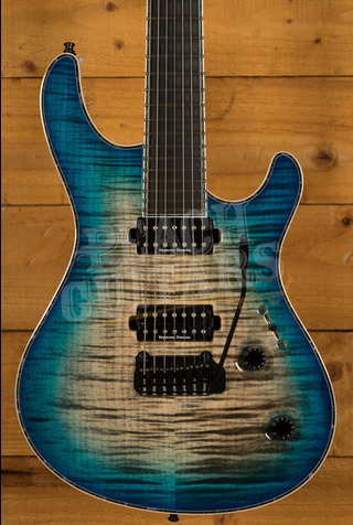 Mayones Regius V24 7 Jeans Black 3-Tone Blue Burst Gloss Used