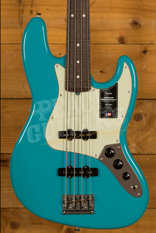 Fender American Professional II Jazz Bass Miami Blue Rosewood