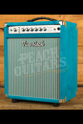 Two-Rock Studio Signature Combo - Silver Chassis Turquoise Suede