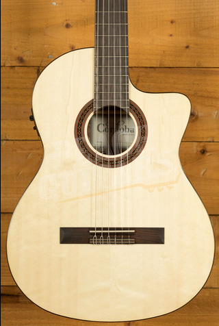 Cordoba C5 CE Solid Spruce Top Mahogany Back and Sides - Cutaway Electro