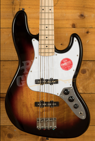 Squier Affinity Jazz Bass Maple 3-Colour Sunburst