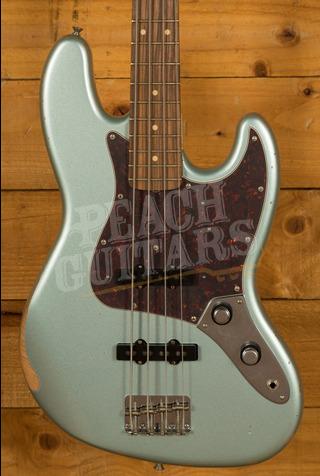 Fender 60th Anniversary Road Worn Jazz Bass Firemist Silver Pau Ferro