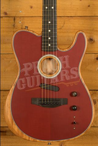 Fender Acoustasonic Telecaster Crimson Red