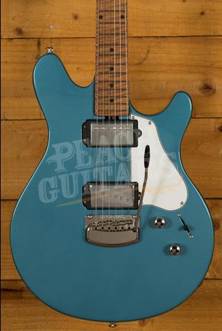 Music Man JV Trem Toluca Lake Blue Roasted Maple Neck