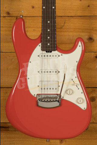 Music Man Cutlass HSS Trem Roasted Maple Neck Coral Red