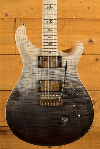 PRS Wood Library Custom 24 Charcoal Fade with Flame Maple Neck