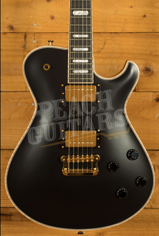 "Knaggs Kenai ""Custom"" Black with Gold Hardware - Ebony Fretboard"