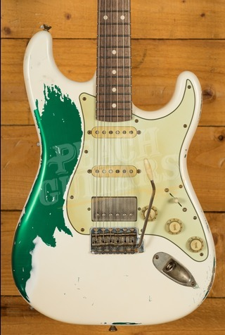 Xotic California Classic XSC-2 Super Heavy Aged V/Wht over Candy Green