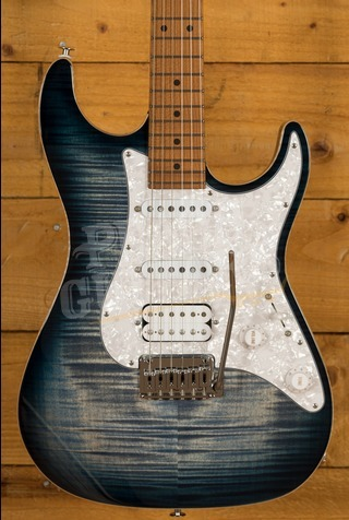 Suhr Standard Plus Faded Trans Whale Blue Burst Maple