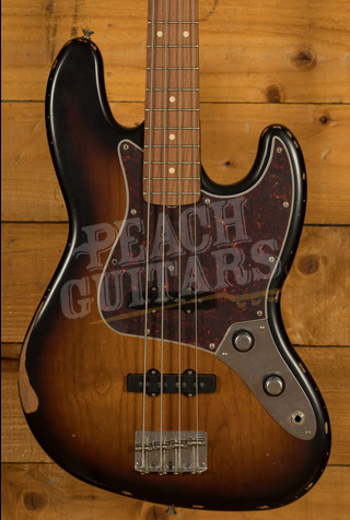 Fender 60th Anniversary Road Worn Jazz Bass 3 Tone Sunburst Pau Ferro