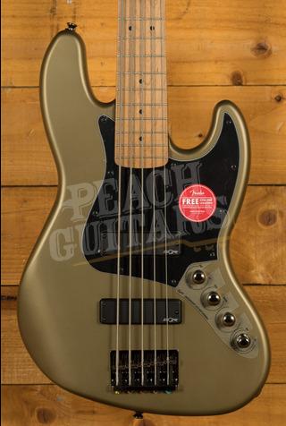 Squier FSR Contemporary Active Jazz Bass V Olive Satin