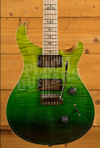 PRS Wood Library Custom 24 Green Fade with Flame Maple Neck