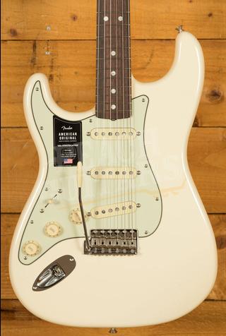 Fender American Original '60s Strat Rosewood Board, Olympic White, Left-Handed