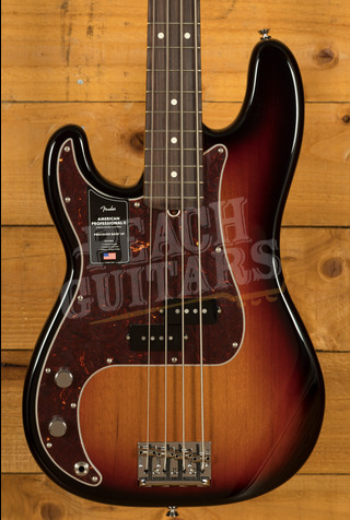 Fender American Professional II Precision Bass Left-Hand 3-Color Sunburst Rosewood