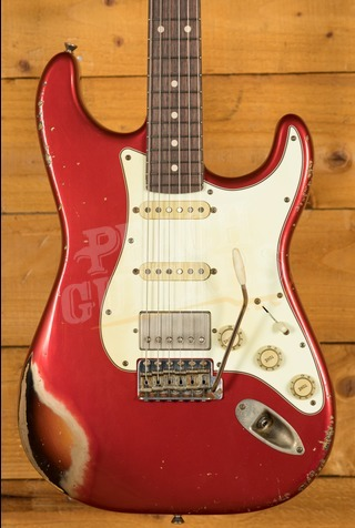 Xotic California Classic XSC-2 Candy Apple Red over Sunburst Mastergrade
