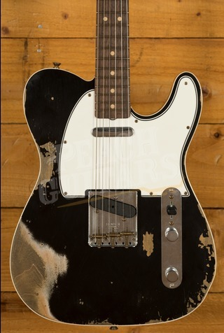 Fender Custom Shop 2020 '64 Tele Custom Heavy Relic Aged Black