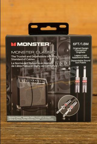 """Monster Prolink Classic Speaker 6 ft. - straight 1/4"""" plugs"""