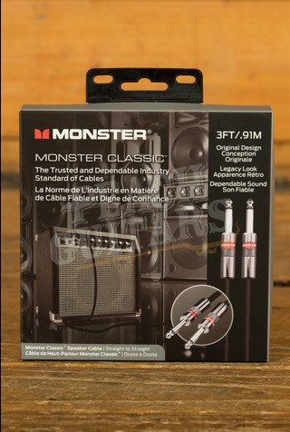 """Monster Prolink Classic Speaker 3 ft. - straight 1/4"""" plugs"""