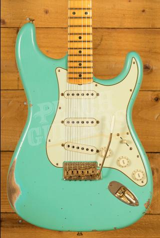 Fender Custom Shop Limited '62 Strat Relic Maple Board Faded Aged Sea Foam Green