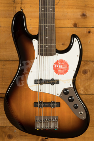 Squier Affinity Jazz Bass V Laurel Brown Sunburst