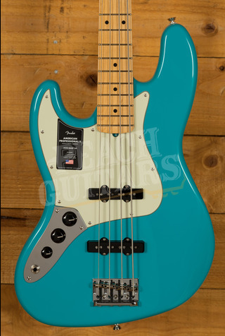 Fender American Professional II Jazz Bass Left-Hand Miami Blue Maple