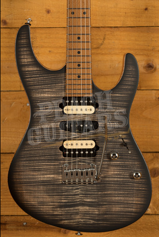 Suhr Modern Satin Flame - Charcoal Burst