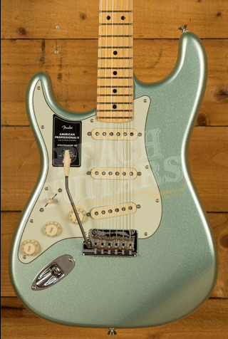 Fender American Professional II Stratocaster Left-Hand Mystic Surf Green Maple
