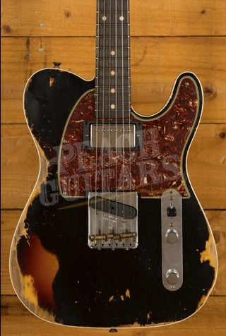 Fender Custom Shop 2020 LTD Tele Custom HS Black over 3 Tone Sunburst