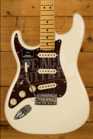 Fender American Professional II Stratocaster Left-Hand Olympic White Maple
