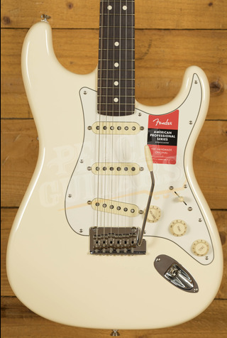 Fender American Pro Strat Olympic White Rosewood *B Stock*