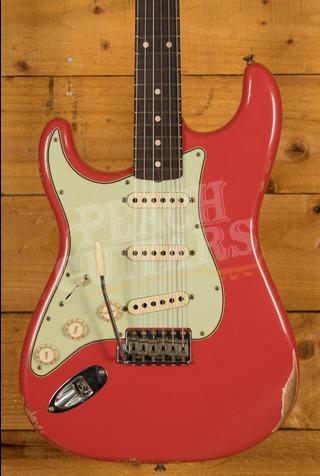 Fender Custom Shop '60 Strat Relic Left Handed Rosewood Fiesta Red