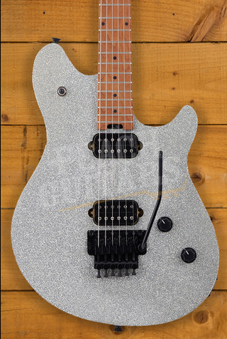 EVH Wolfgang Standard, Baked Maple Fingerboard, Silver Sparkle