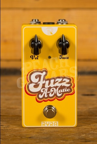 "RYRA ""Fuzz A-Matic"" Germanium Fuzz Pedal yellow"