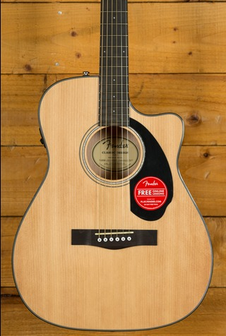 Fender CC-60SCE Concert Walnut Fingerboard Natural