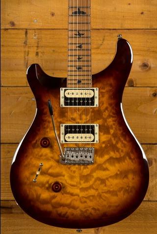 PRS SE Custom 24 Quilt Tobacco Sunburst Torrified Maple Left Handed