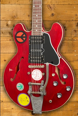 Gibson Alvin Lee Big Red ES 335 Cherry Aged Bigsby