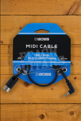 BOSS BMIDI-35 TRS to 5-Pin DIN MIDI Cables 1ft