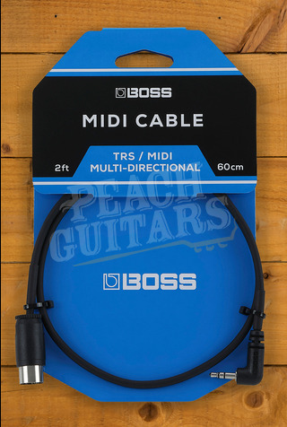 BOSS BMIDI-35 TRS to 5-Pin DIN MIDI Cables 2ft