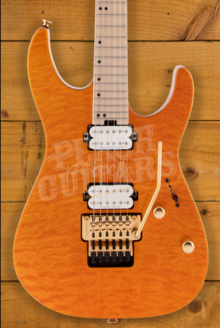 Charvel Pro Mod DK24 HH FR M Mahogany with Quilt Maple - Dark Amber