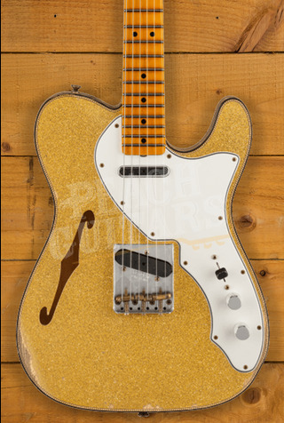 Fender Custom Shop Limited Edition 60s Custom Tele Thinline Relic Aged Gold Sparkle