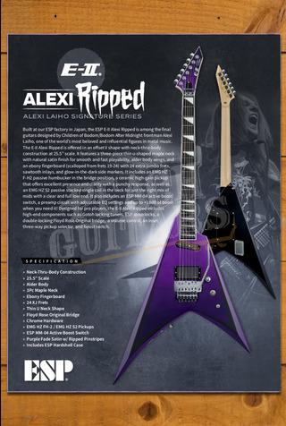ESP E-II Alexi Ripped Purple Fade Satin