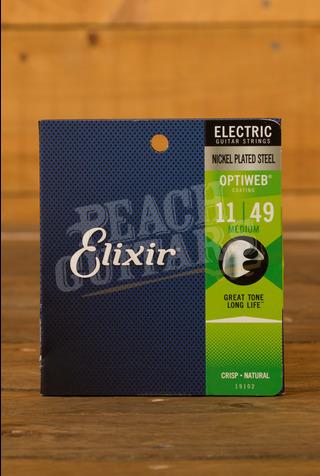 Elixir Electric Optiweb Strings - 11-49 (Medium)