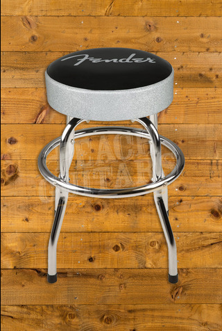 "Fender 30"" Silver Sparkle Barstool"