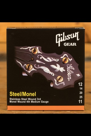 Gibson .012-.025 Banjo / Steel Wound 3rd, Monel Wound 4th