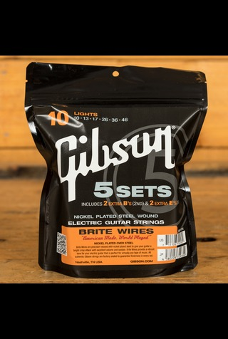 Gibson Brite Wires 10-46 - 5-Pack