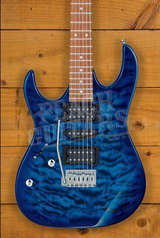 Ibanez GRX70QAL-TBB Lefty Transparent Blue Burst