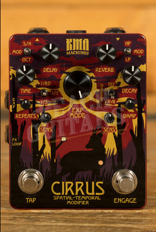 KMA Cirrus Delay and Reverb Pedal with Tap Tempo and Modulation