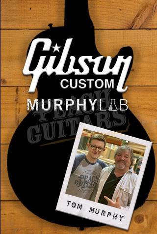 Gibson Custom Murphy Lab HP Top 59 Les Paul Left Hand Dirty Lemon Burst Light Aged Murphy Painted