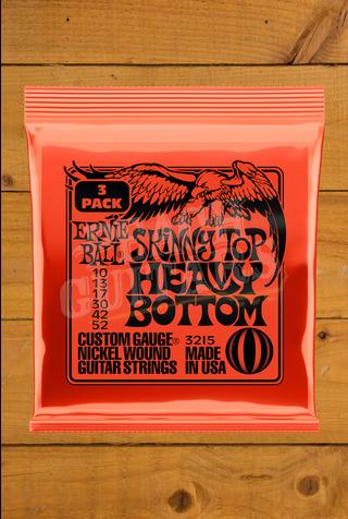 Ernie Ball 10-52 Skinny Top Heavy Bottom (3 Pack)