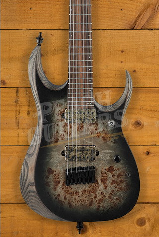 Ibanez RGD71ALPA-CKF Axion Label Charcoal Burst Black Stained Flat